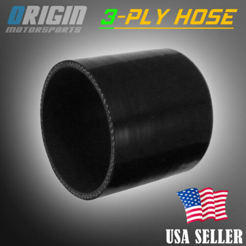 4″ INCH Intercooler Turbo Piping 3-Ply Silicone Coupler Hose Hi Temp Black