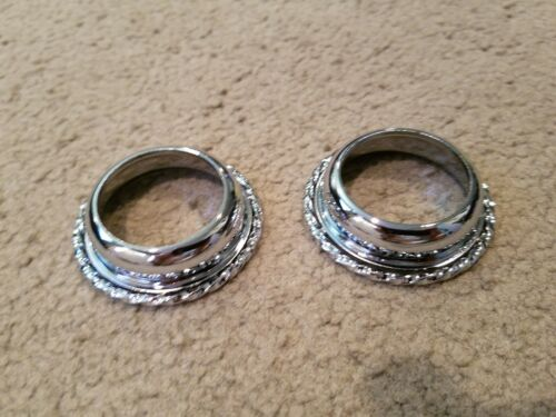 2 NEW CHROME SINGLE TWISTED B.B CUPS FOR CRANKS ON BICYCLES LOWRIDER CRUISER