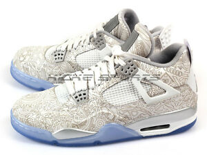 803bb17d70eaa7 Nike Air Jordan 4 IV Retro Laser 2015 White Chrome-Metallic Silver ...