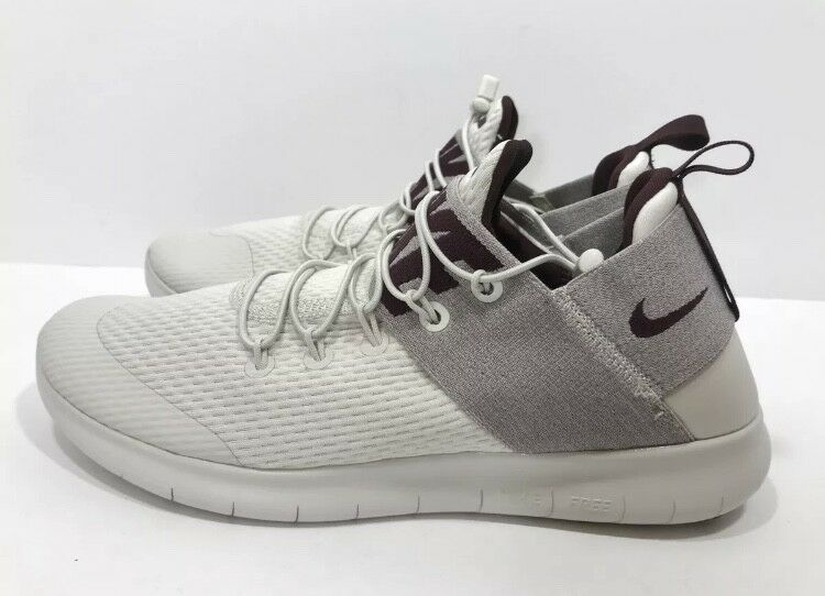 *New* Nike Free RN Commuter 2017 Uomo Shoes Light Bone/Deep Burgundy 880841-004