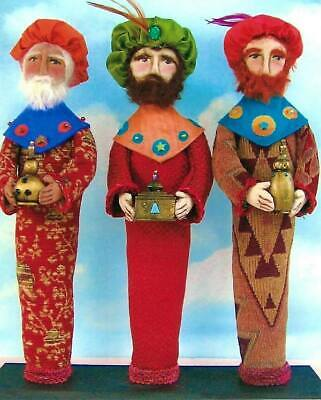 """*NEW* Cloth Folk Art Paper Pattern /""""Wise Men/"""" By Susan Barmore"""