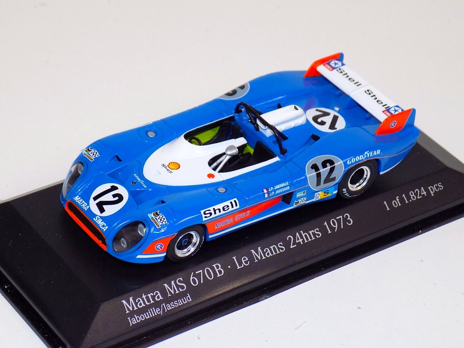 1 43 Minichamps Matra MC670B 1973 24 Hour of LeMans car