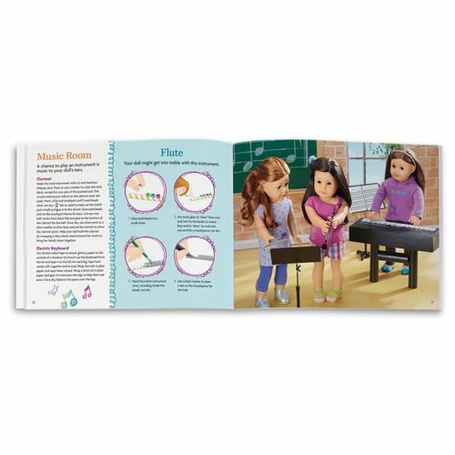 BRAND NEW AMERICAN GIRL DOLL SCHOOL PLAY KIT LEARNING BOOK ACTIVITIES PIANO