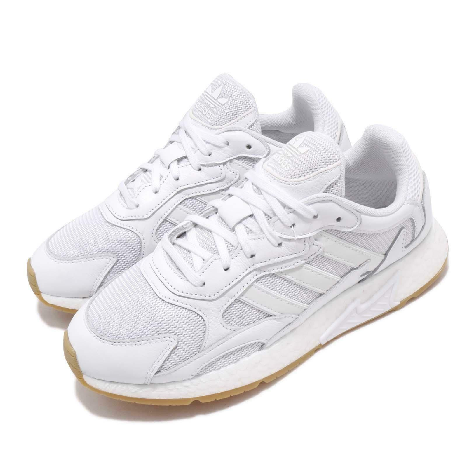 Adidas Originals Tresc Run blanco Gum Mens Running zapatos BOOST EF8102