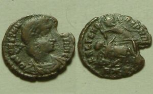 Constantius II, spearing fallen enemy horse rider/Rare ancient Roman coin Rome