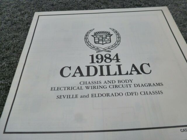 1984 Cadillac Eldorado  U0026 Seville Dfi Chassis Electrical