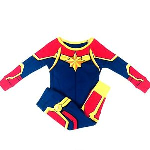Disney Store Baby Blue Long Sleeve Captain Marvel Costume Knit Pajamas 12 18 Mo Ebay Diy captain marvel costume that only takes a couple days and roughly $23 to make. ebay