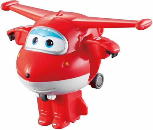 Official Super Wings Jett Transform a Bot Toy Action Figure Transforming Gift