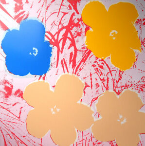 ANDY-WARHOL-Pop-Art-Sunday-B-Morning-Flowers-11-70-Screen-print-COA