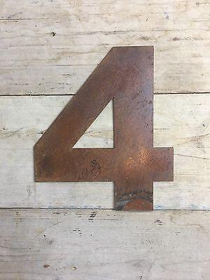 Industrial Rusty Lettrage Lettres signe metal shop front Maison Nombre 8 12 in environ 30.48 cm