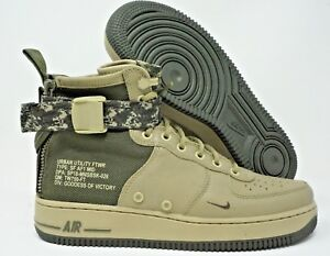 c89b1cb87d1 Nike SF Air Force 1 Special Field Mid Mens Neutral Olive Green Multi ...