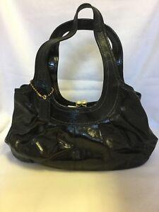 d9ae5d990d Image is loading AUTHENTIC-Coach-Black-Patent-Leather-Handbag-Satchel-W-
