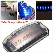 Car 6LED Blue Solar Burglar Alarm Warning Strobe Flash Light Anti-theft Security