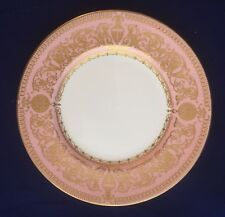 "VINTAGE Royal Worcester ""Balmoral"" 6"" Tè Piastra in Rosa e Oro x 6"