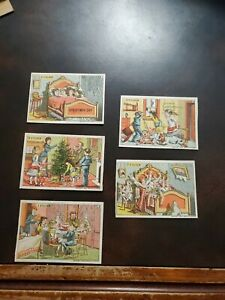 TG-1882-NOS-Unused-Trade-Cards-034-Christmas-Day-Series-034-6-9-1-3-amp-7-O-039-clock