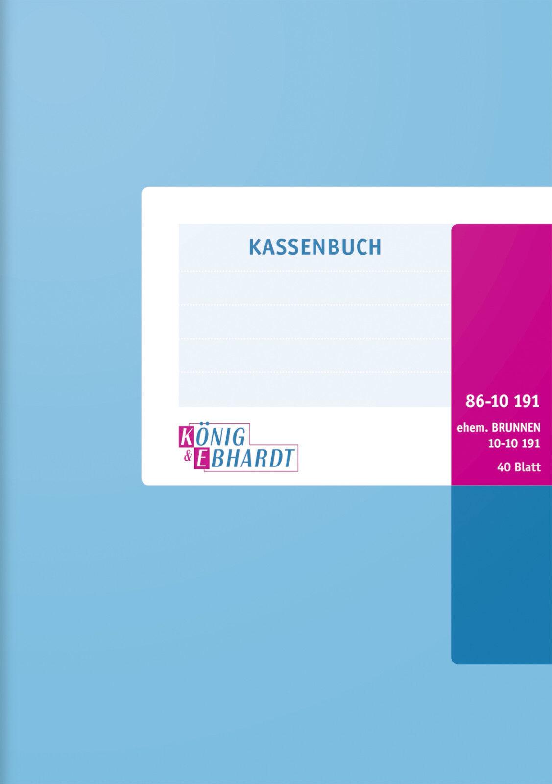 K/&E Kassenbuch A4 Einnahmen Ausgaben 3-spaltig 86-10241 ehemals Brunnen 10-10241