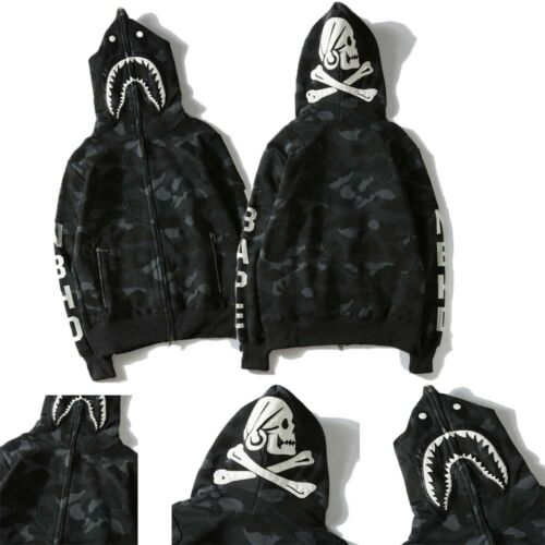 Shantou Coat Hoodie Jacket Loose Cotton Zip Sweatshirt Tops A BAthing Ape Bape