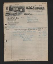 GERA, Rechnung 1920, G. W. Scheibe Nähmaschinen-Fahrräder-Motorwagen-Fabrik