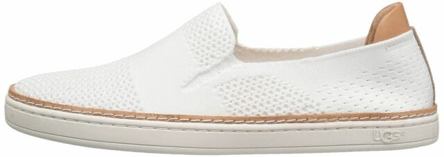 3e9a09f7a74 UGG Sammy Knit and Leather White Fashion Sneaker Tennis Shoe Size 6.5 US