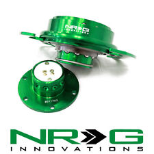 NRG 3.0 Gen Steering Wheel Quick Release Hub - Green / Green Ring | SRK-650GN