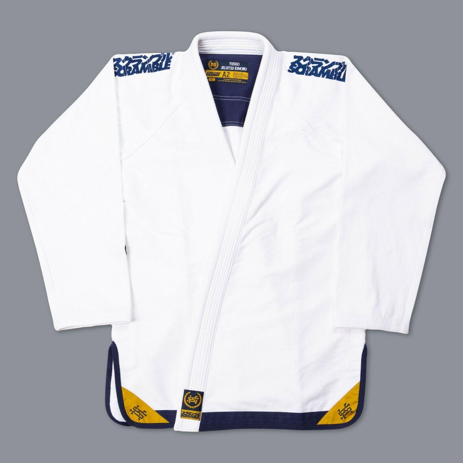Scramble Yusho Bjj Gi Bianco Kimono Jiu Jiu Jiu Jitsu Brasiliano Uniforme Grappling b89