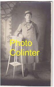 160eme R.I. Portait en pied d'un Fantassin en Capote Bleu Horizon - Photo-Carte kjjj3Yx4-09163419-248399241