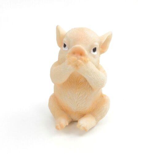 Pigs See No Evil Hear No Evil Speak No Evil Farm Country Collectible Figurine