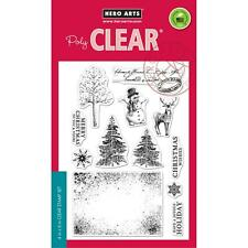Hero Arts Poly Clear Stamps Vintage Christmas Wishes Snowman