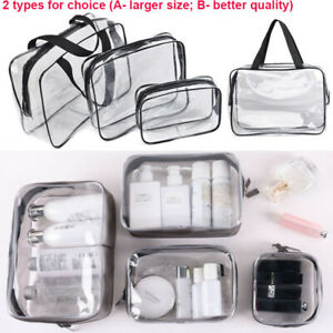 Clear-Transparent-Plastic-PVC-Travel-Cosmetic-Make-Up-Toiletry-Zipper-Bags-Pouch