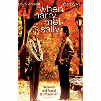 WHEN HARRY MET SALLY Movie Promo POSTER B Billy Crystal Meg Ryan Carrie Fisher