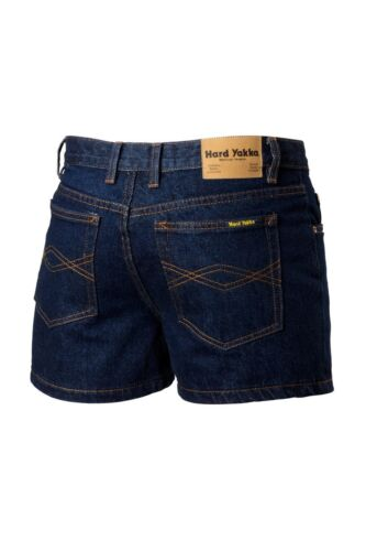 Mens Hard Yakka Enzyme Washed Denim Shorts Workwear Jeans Material Y05681