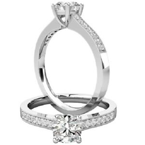 0.66 Ct Cushion Cut Moissanite Anniversary Ring 14K Solid White Gold ring Size 5