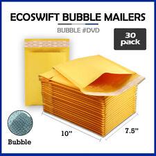 30 0 75x10 Ecoswift Brand Kraft Bubble Mailers Padded Envelope Dvd 75 X 10