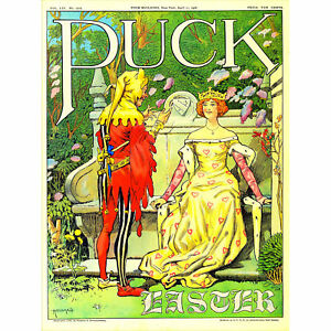 Magazine-Cover-Puck-USA-Queen-Jester-Garden-Easter-Art-Canvas-Print