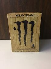 Monster Java Mean Bean 11oz Can 4PK . Coffee & Energy .1 Full 4PK Lot. SKU 0516