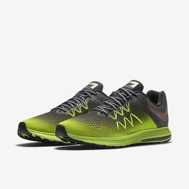 Nike Zoom Winflo 3 Shield Men`s Trainers Shoes 852441 700 Black/Volt/Grey