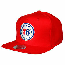 Mitchell and Ness NBA Philadelphia 76ers Team Logo Red Retro Snapback Cap