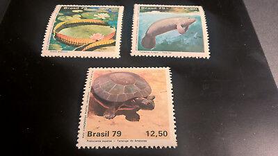 100% QualitäT Brasilien Brazil 1979 Satz Natur Postfrisch Attraktiv Und Langlebig