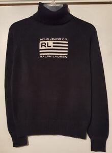 Pre-Owned-Women-s-Ralph-Lauren-Blue-Knit-Sweater-L