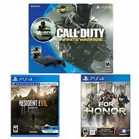 PlayStation 4 Slim COD Infinite Warfare 500GB Console + Resident Evil + For Honor
