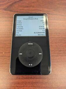 Apple iPod classic 5th Generation 30GB - Black A1136 w/ video