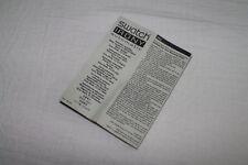 Libricino booklet SWATCH IRONY originale vintage