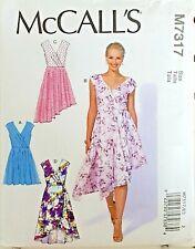 McCalls M6883 SEWING PATTERN FLARED HI-LOW DRESS /& SLIP RAGLAN SLEEVES SIZE 6-22