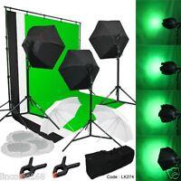 Photography Lighting Muslin Backdrop Stand Studio Light Kit Linco Studio