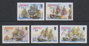 Jersey-2005-Bataille-De-Trafalgar-Expedie-Ensemble-MNH-Sg-1247-51