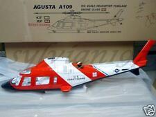 Funkey Agusta A-109 Retract Ver. Scale Fuselage 550 Coast Guard / Blue / RED NIB