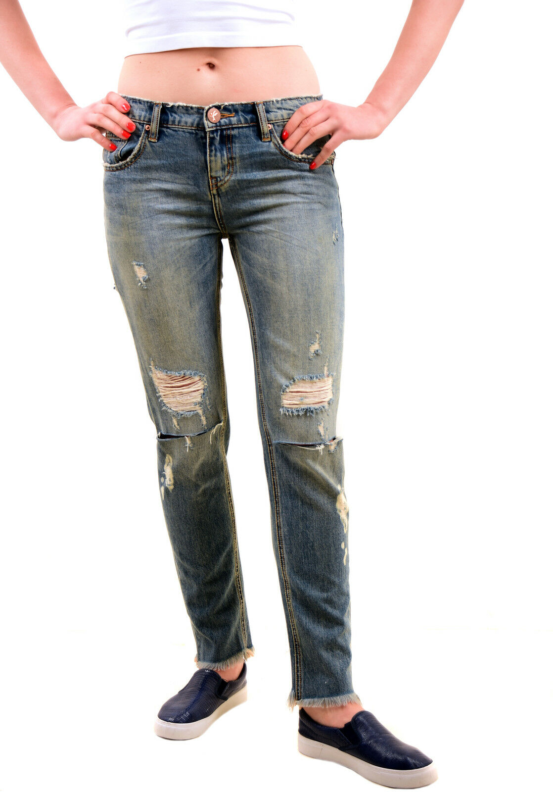 One Teaspoon Women's New bluee Buoy Awesome Baggies Jeans Size 26 RRP  BCF75