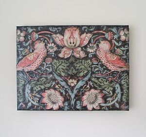 WILLIAM MORRIS  STRAWBERRY THIEF WALLPAPER  DECOUPAGED ART CANVAS - <span itemprop='availableAtOrFrom'>Loughborough, United Kingdom</span> - WILLIAM MORRIS  STRAWBERRY THIEF WALLPAPER  DECOUPAGED ART CANVAS - Loughborough, United Kingdom