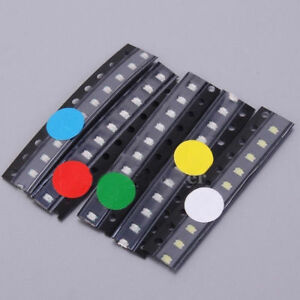 50pcs-SMD-0805-LED-Diodes-Assortment-Kits-5Values-Red-Blue-Green-Yellow-White