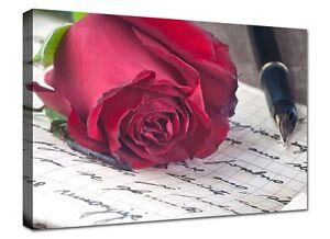 Quadro moderno cm stampa su tela arredo arte rosa rossa